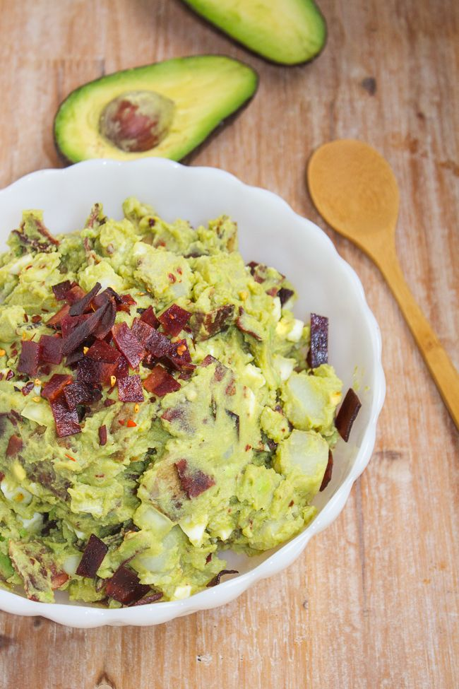 The Ultimate Avocado Potato Salad loaded with Bacon  (no mayo!) - this is a must try