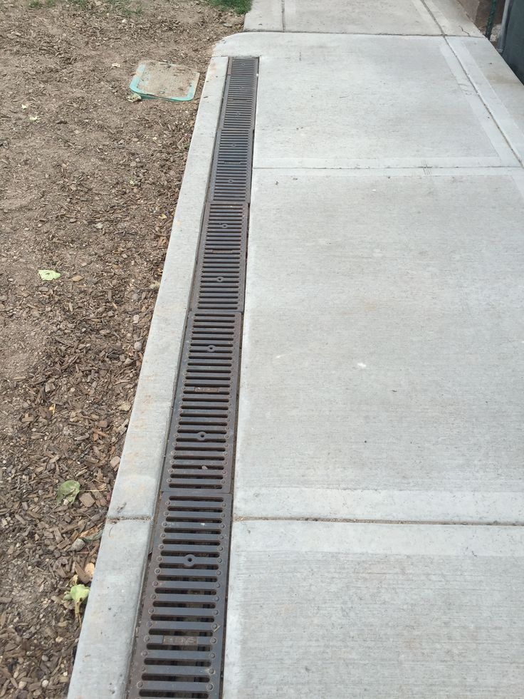 Sidewalk With Built In Drain And Snowmelt System In 2019
