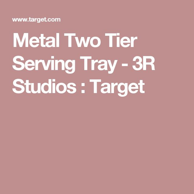 Metal Two Tier Serving Tray - 3R Studios : Target