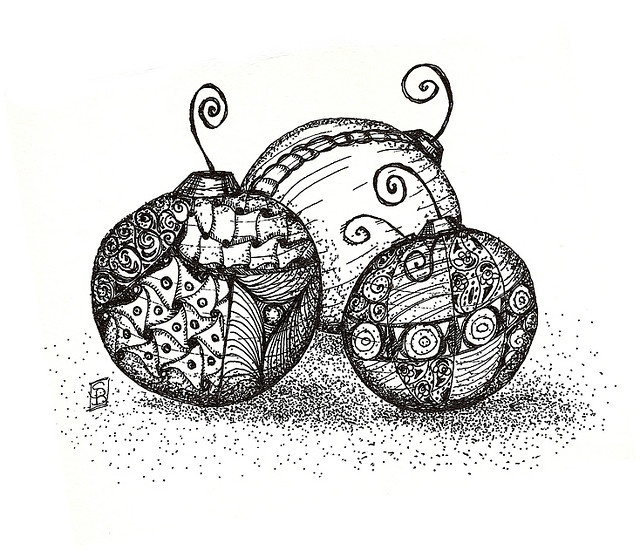 christmas ornament doodles