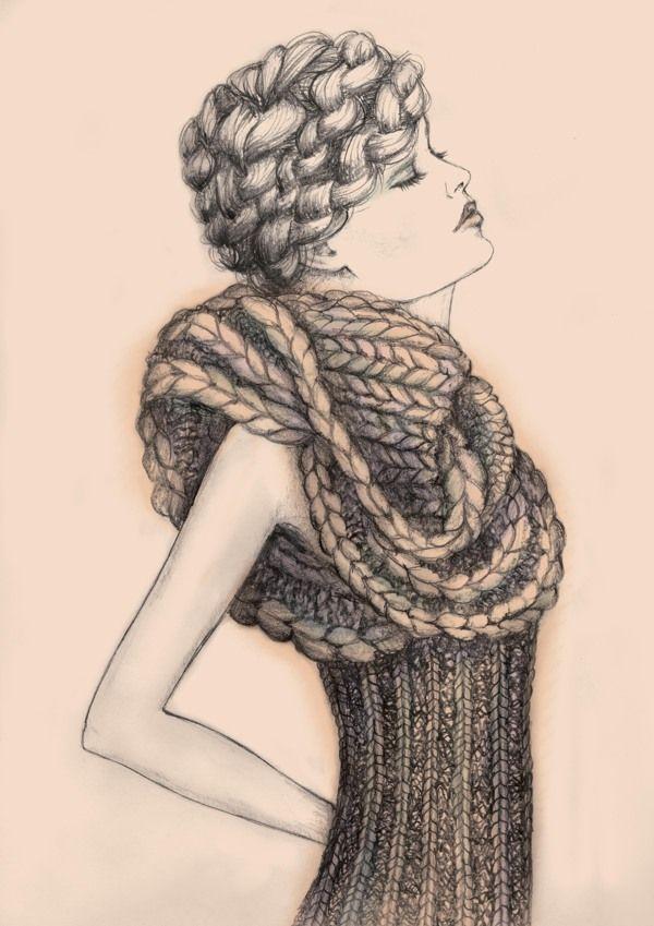 Knitwear Illustration by Alexandra Liss, via Behance