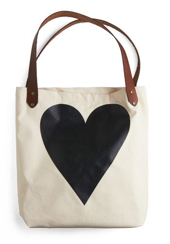 heart tote [red ♥ on reverse!]