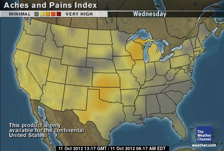 US Weather Aches and Pains The weather channel, 10 day