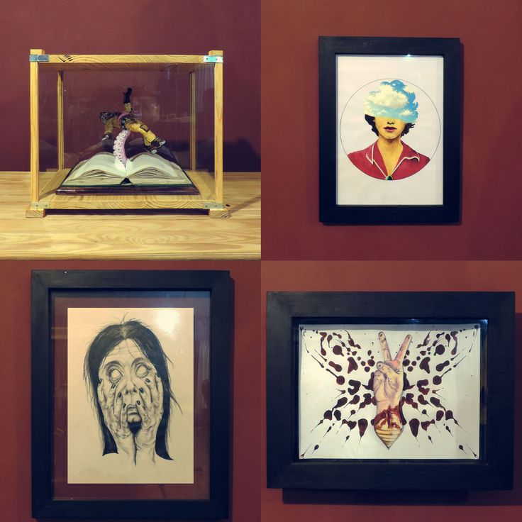 I make my own display cases and frames for all of my paintings, sketches and sculptures. Here are a few examples. #themindisright #art #display #showcase #handmade