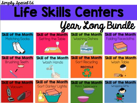 Start your new year off by implementing a life skills center in your life skills or autism classroom. Teach your students one skill a month for 12 months and send them off with 12 solid skills!