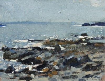 British Artist Ken HOWARD RA - Seascape Mousehole