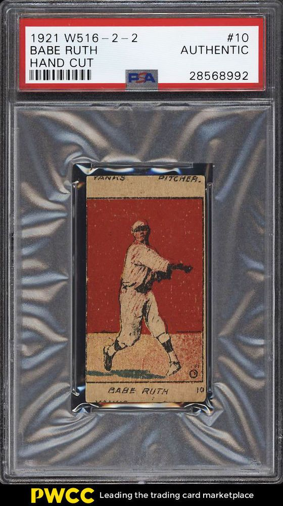 1921 W516 2 2 Strip Card Babe Ruth 10 Psa Auth Pwcc