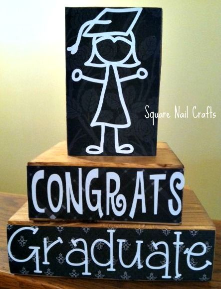 Graduation blocks The graduation girl is a file that I purchased at the Silhouette Store.