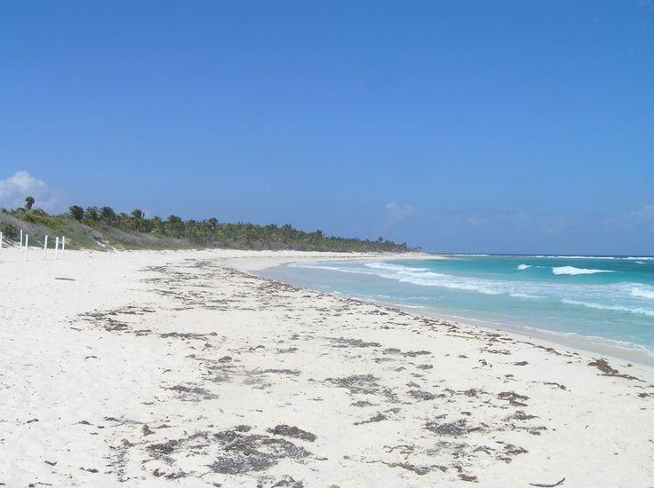 Playa Xcacel.