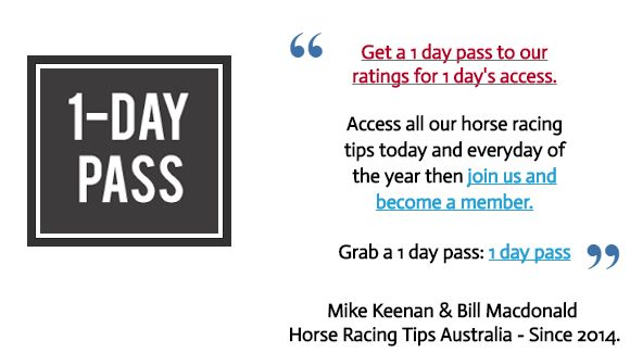 Sunday's September 18th Horse Racing Information:  This Sundays FREE horse racing tips are now posted at   http://www.freehorseracingtipsaustralia.com/sundays-horse-racing-tips  and here's hoping for another really great day so great luck and I will have some more sports news for you later.  Mike Keenan.