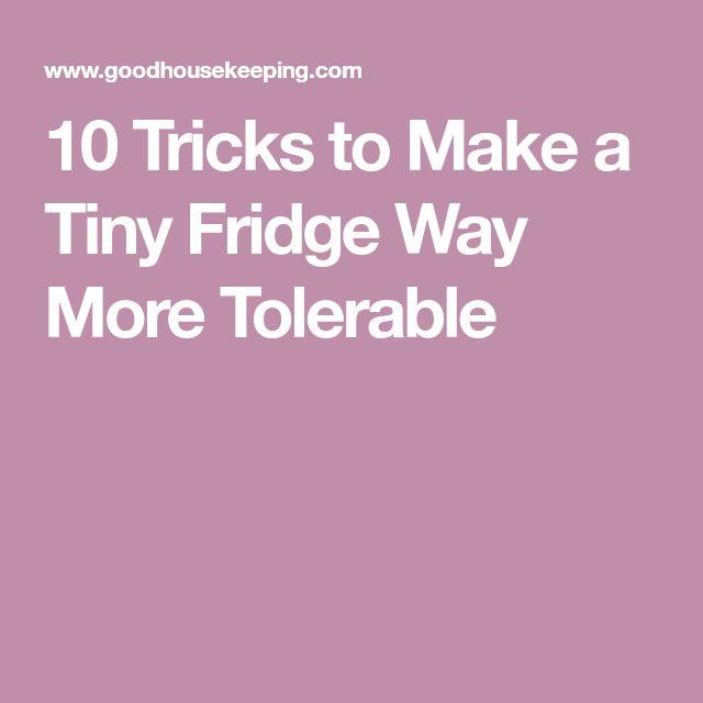 10 Tricks to Make a Tiny Fridge Way More Tolerable