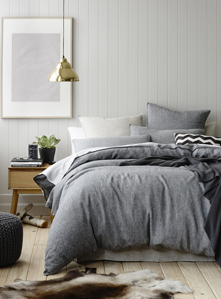 Gray simplicity for a calm, relaxing bedroom retreat. | Bek Sheppard