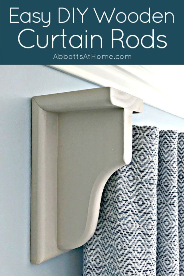 Diy Wooden Curtain Rod And Brackets In 2020 Wooden Curtain Rods