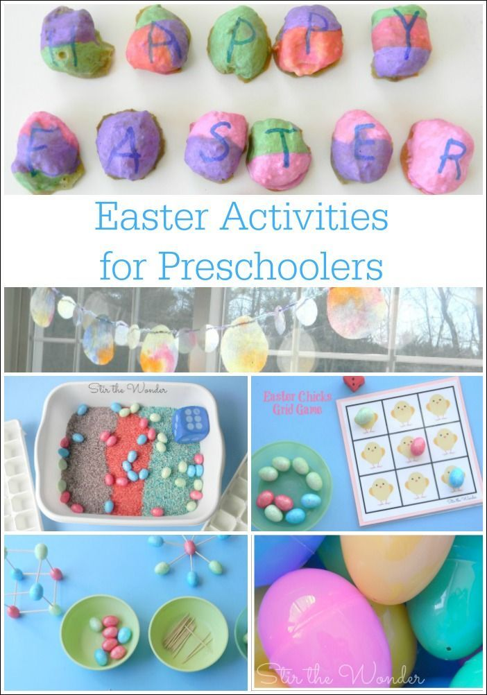 Here are six Easter Activities for Preschoolers that cover fine motor skills, creativity, sensory play, math, and the alphabet all in a playful way!