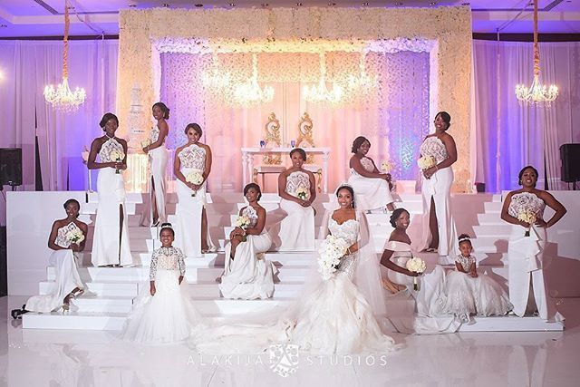 #MyACWedding – Issa #FORMATION of the #BeautifulBride and her stunning #BrideSquad and #FlowerGirls.
