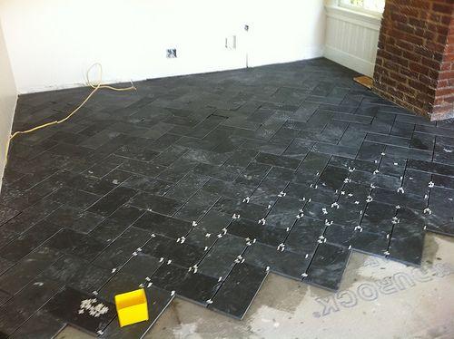 herringbone slate floor - Google Search