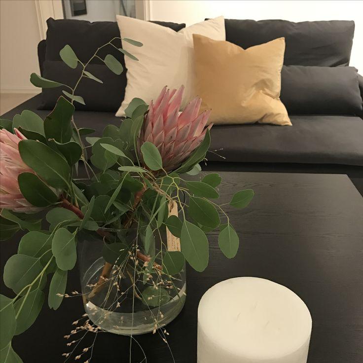Söderhamn moderne blomster candle sennepsgul modern minimalistisk skandinavisk