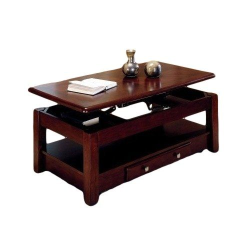 Cherry Lift Top Rectangular Coffee Or Cocktail Table With Storage Shelf And  Drawer Unknown Http: