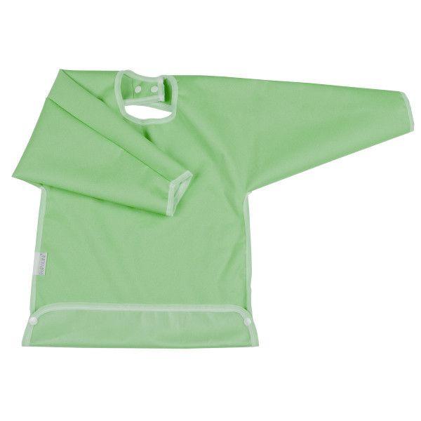 Grembiulino impermeabile con maniche - verde