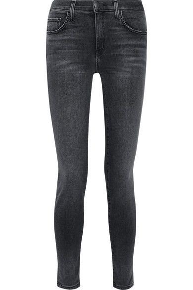 Current/Elliott - The High Waist Ankle Skinny Jeans - Gray - 26