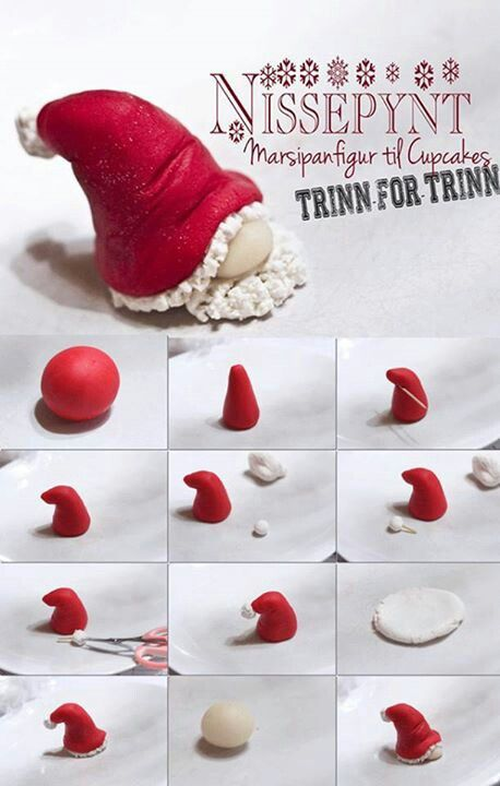 Fondant Tutorial by Nissepynt - Santa Hat Gnome