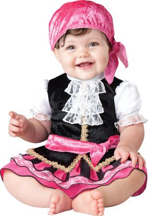 Pretty Little Pirate Baby Costume