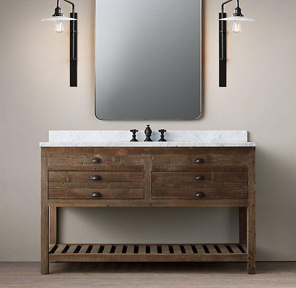 Printmaker 39 s extra wide single vanity sink i think this for Master bathroom vanity single sink
