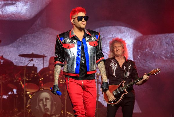 Queen and Adam Lambert perform onstage during the North American Tour kickoff at Gila River Arena on June 23, 2017 in Glendale, Arizona.