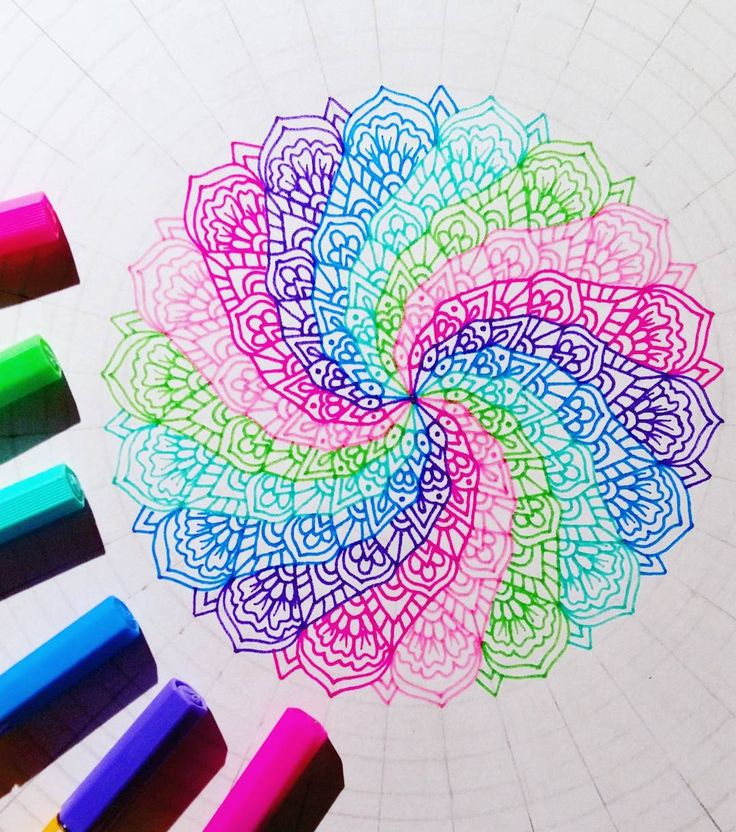Love the colours and patterns of this spiraling mandala