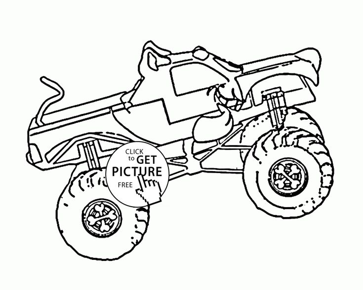 scooby doo monster truck coloring page for kids transportation coloring pages printables free wuppsy - Free Monster Truck Coloring Pages