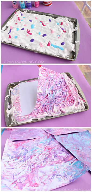 How To Make Marbled Paper Using Shaving Cream And Acrylic Paint Super Fun Craft For