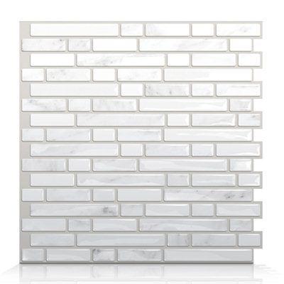 Smart Tiles SM1044 Bellagio Marmo Self Adhesive Wall Tile $8.50/each