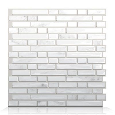 Smart Tiles SM1044 Bellagio Marmo Self Adhesive Wall Tile - at Lowe's (online only)