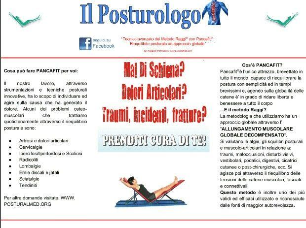 Anche a Chiavari e Rapallo. Maggiori info su www.posturalmed.com
