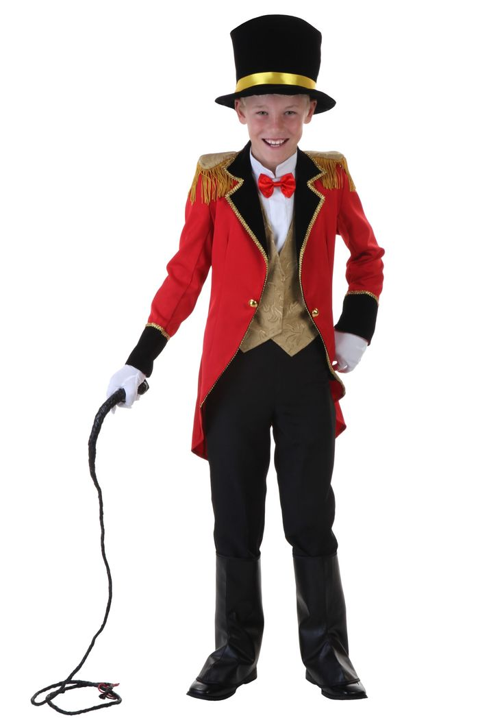 Bring the audience to their feet when you wow them wearing this Child Ringmaster Costume! You'll have lions and tigers obeying your every command.