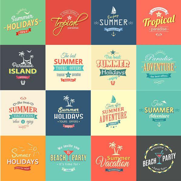 Advertisement これからはじまる夏の季節にぴったり、カスタマイズ可能な無料ベクターラ …