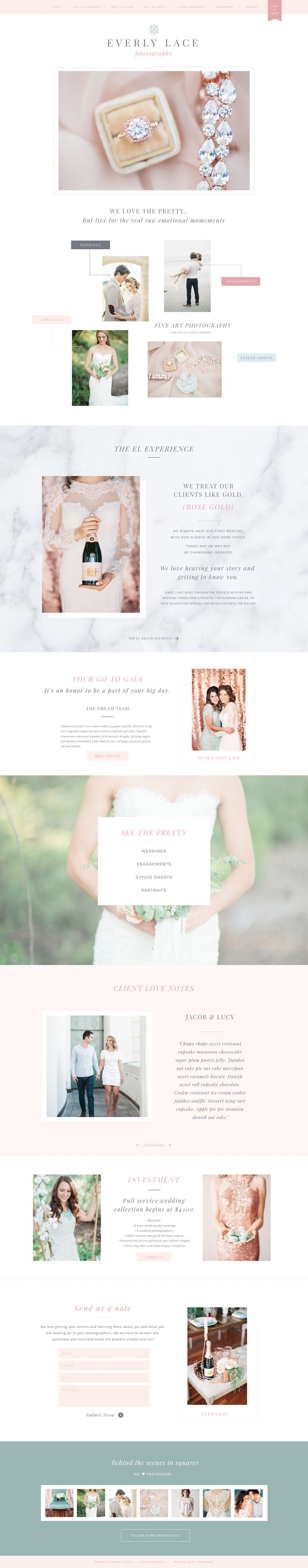 Everly Showit 5 Website for Photographers + Creatives. Designed by Seaside Creative.