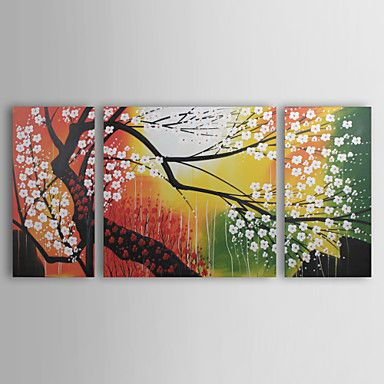 Subjects: Abstract, Floral.  Artists: Other Artists.  Sizes: Oversized.  Color Scheme: Multicolor.  Material: Canvas.  Hang In: Living Rooms, Bedrooms, Nurseries, Offices, Cafes, Hotels.  Dimensions: 16in. HWx32in. HH 2pcs + 32in. HWx32in. HH 1pc (40cmWx80cmH 2pcs + 80cmWx80cmH 1pc).  Shipping Weight(kg): 2.50.