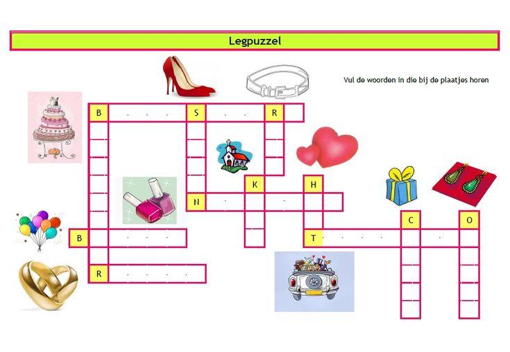 Puzzels bruiloft een leuke woordzoeker en legpuzzel om kinderen bezig te houden tijdens de receptie of diner- Creatief en Simpel - Download op onze site