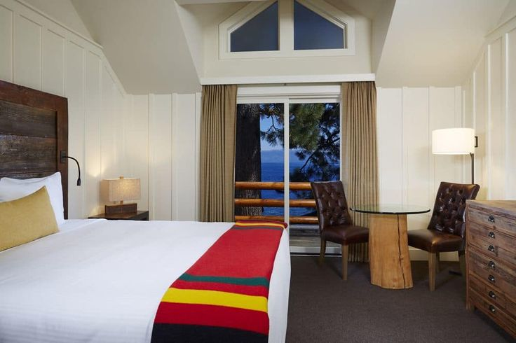 Sunnyside Restaurant & Lodge, Tahoe City, Lakefront Room, 1 King Bed, Balcony, Guest Room