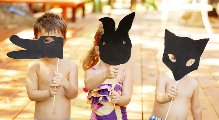 DIY Silhouette Party Masks