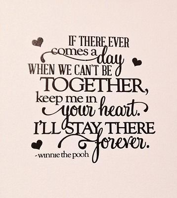 Keep Me In Your Heart..Wall Decal Vinyl Home Decor Kids Room Love