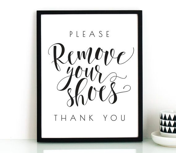 Entryway And Free Printables: 25+ Best No Shoes Sign Ideas On Pinterest