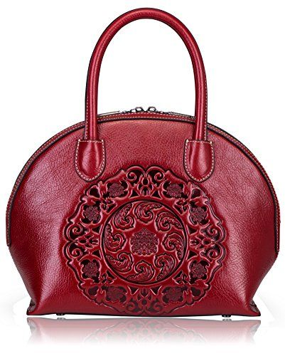 6b1e108621  189.99 - Naisibao Designer Top Handle Handbags Embossed Genuine Leather  Shoulder Tote Bag