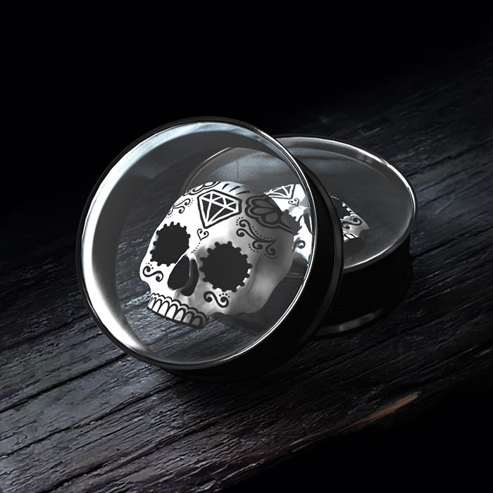 3D Sugar Skull Plugs