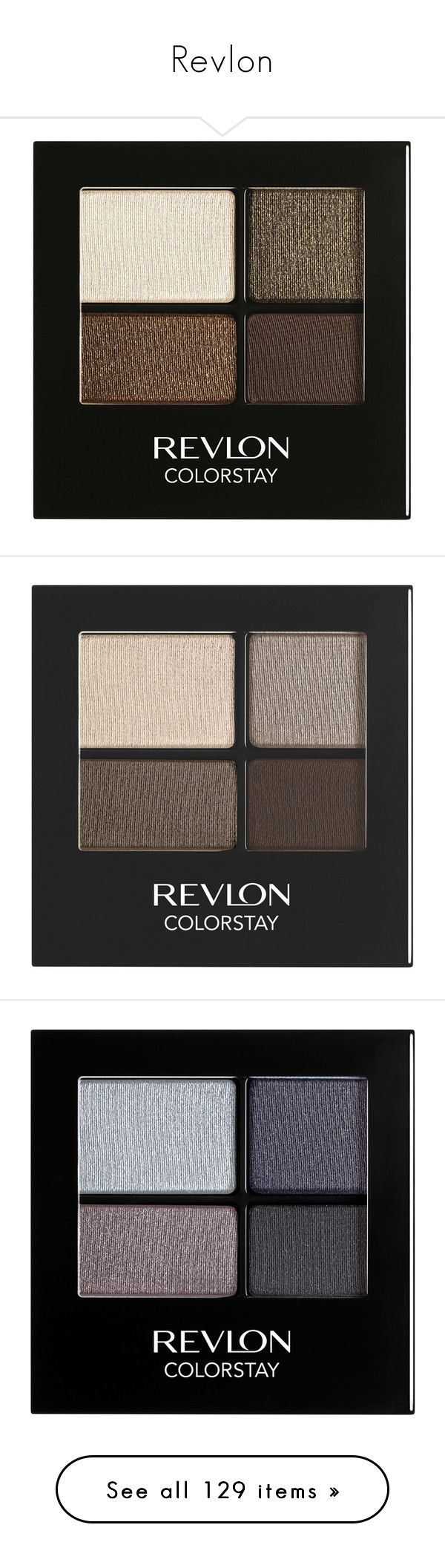 """""""Revlon"""" by shoppings9 ❤ liked on Polyvore featuring beauty products, makeup, eye makeup, eyeshadow, revlon eyeshadow, revlon, revlon eye shadow, revlon eye makeup, eye brow makeup and siren"""