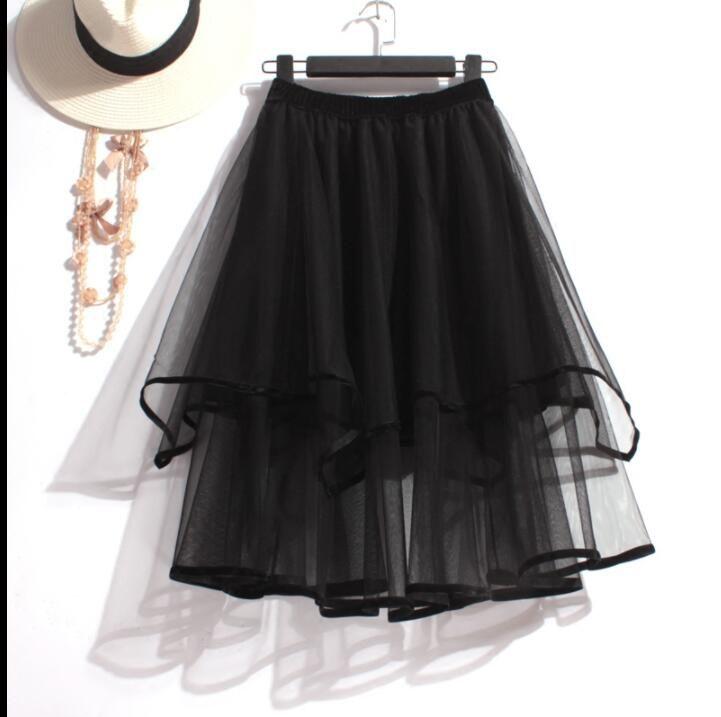 Black Tutu Layers Short Skirts, Chic Teen Skirts, Black Skirts 2018