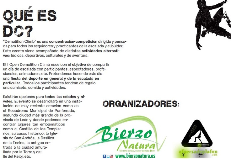¿Qué es Demolition Climb Ponferrada? http://www.bierzonatura.es