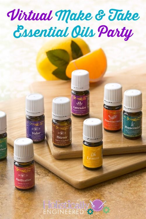 Virtual Make and Take Essential Oils Party #essentialoils #youngliving