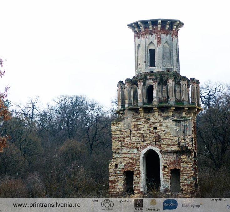 Ruins of Teleki Castle in Luna de Jos, Cluj